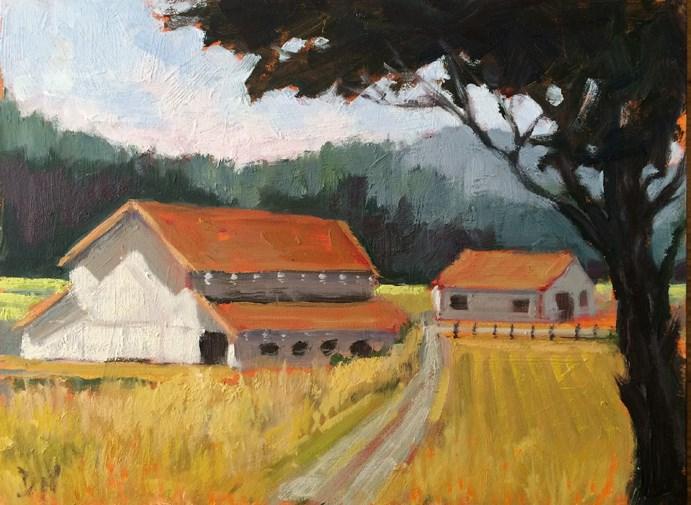 """The Farm"" original fine art by Deborah Newman"