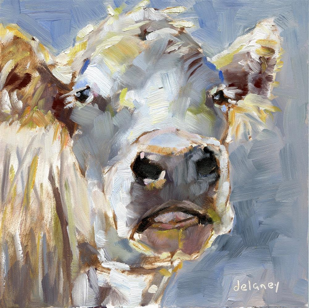 """Cow 160 WHATEVER"" original fine art by Jean Delaney"