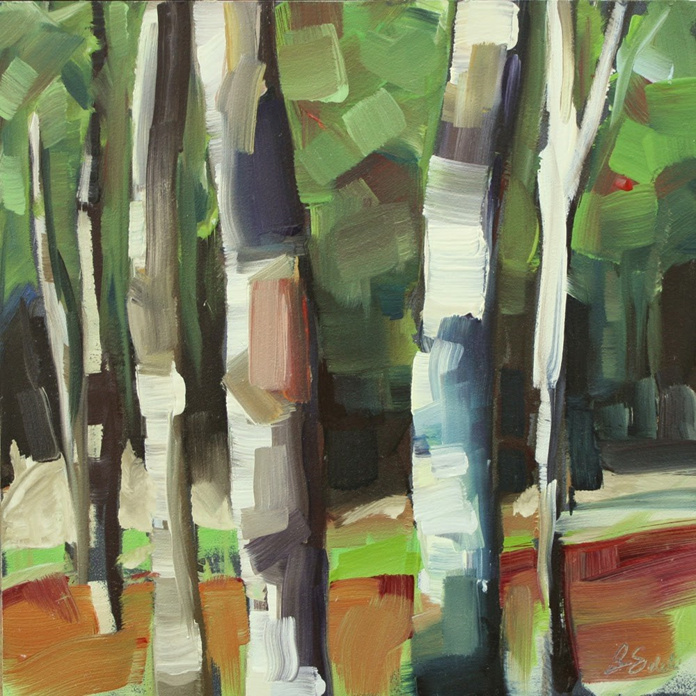 """Birches"" original fine art by Barb Saletri"