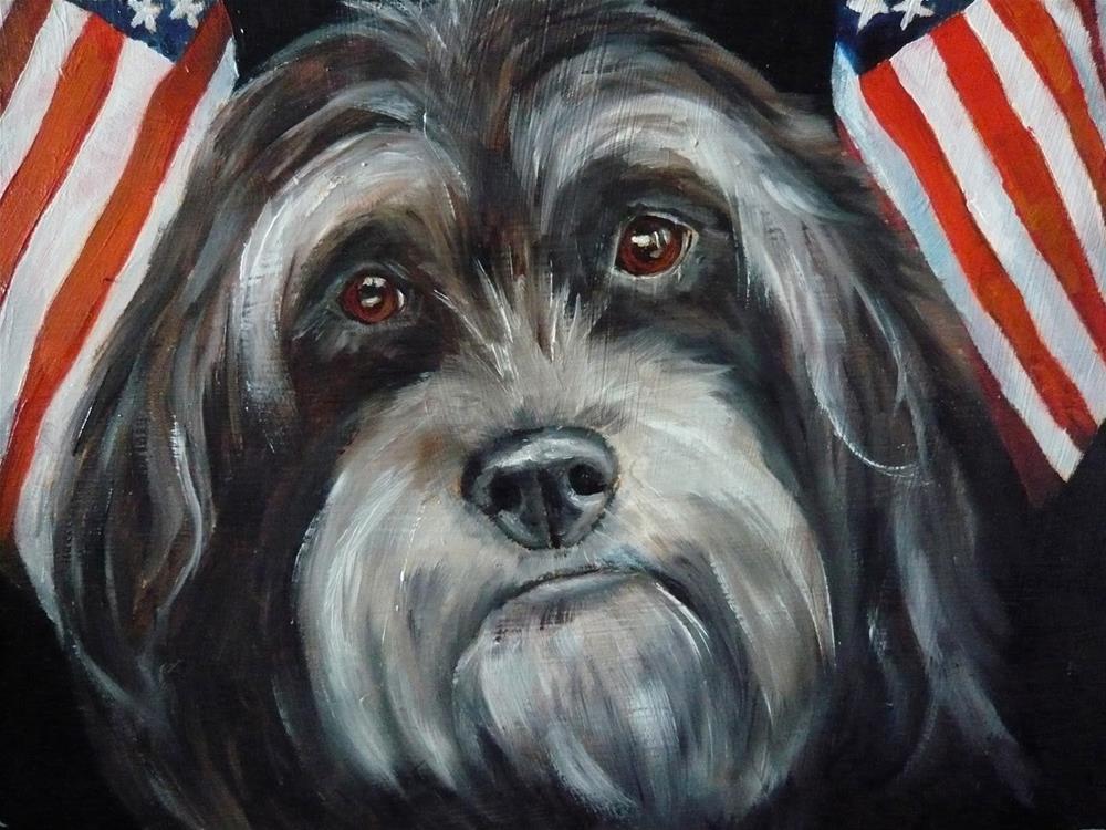 """Deputy Dawg"" original fine art by Karen Robinson"