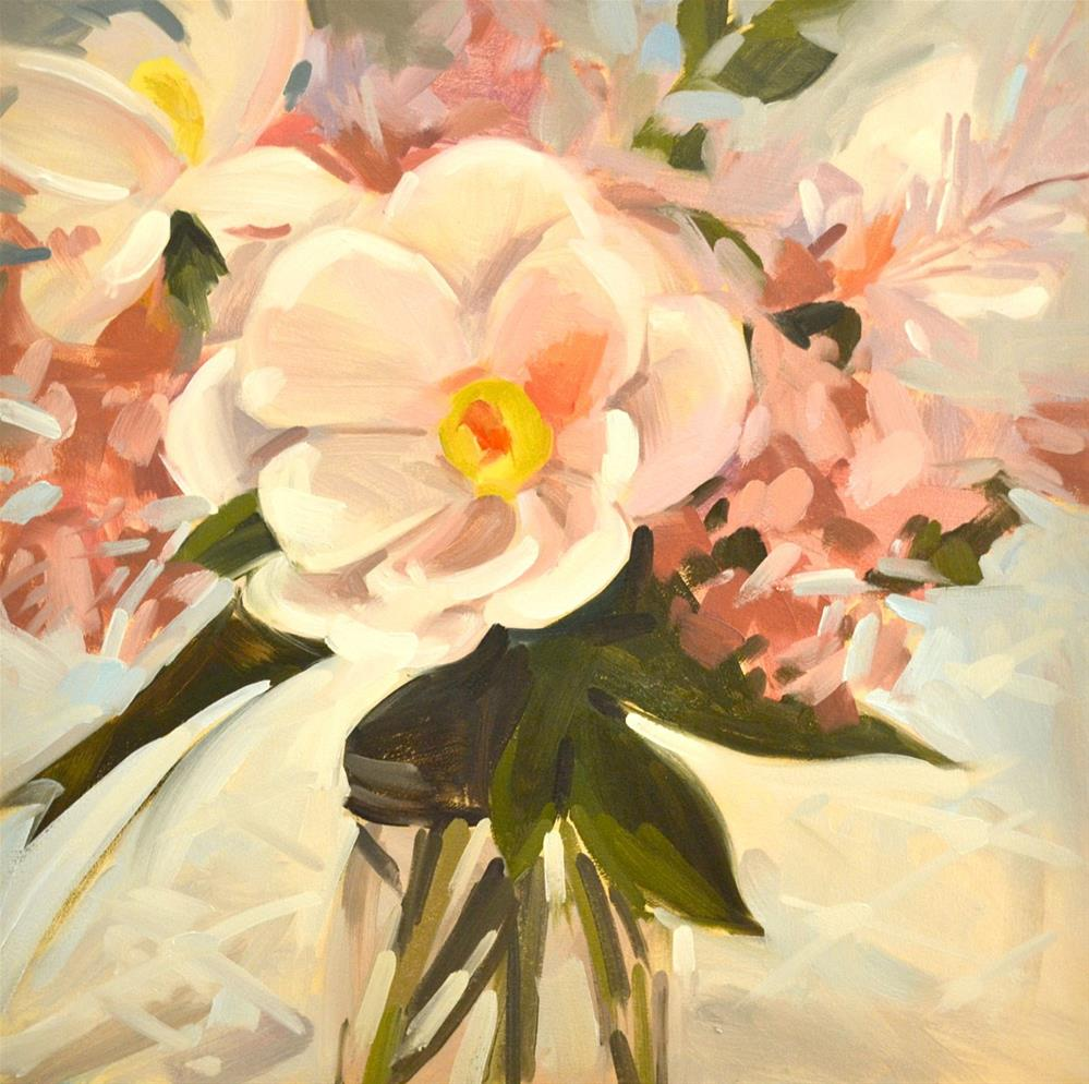 """Tina's Flowers"" original fine art by Jessica Green"