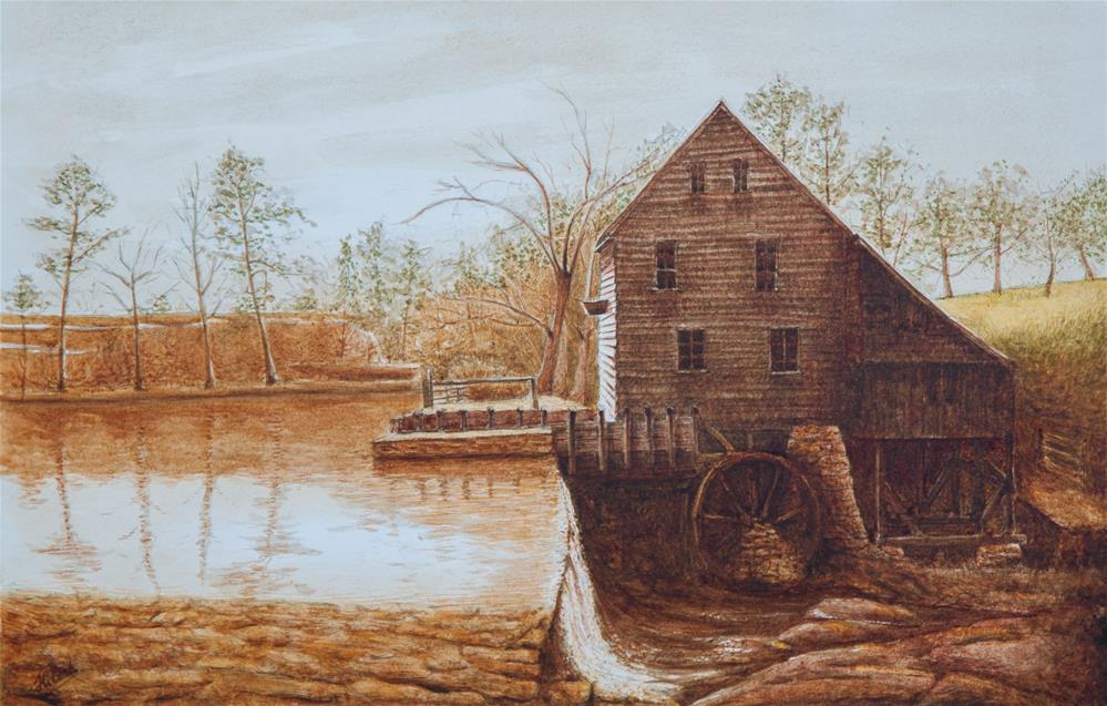 """The Mill"" original fine art by Tesh Parekh"