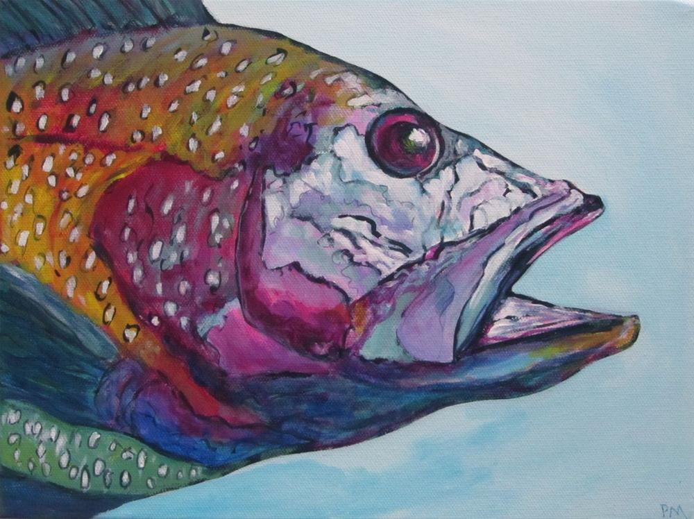"""A Mult-Coloured Black Sea Bass"" original fine art by Patricia MacDonald"