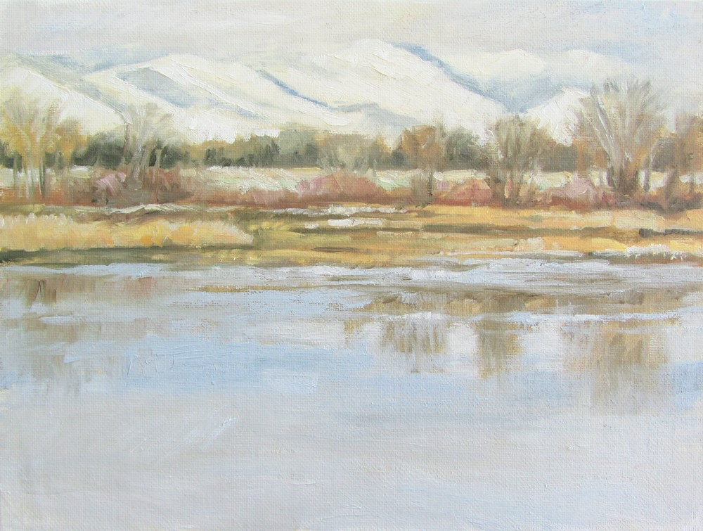 """Spring Snow"" original fine art by Kath Reilly"