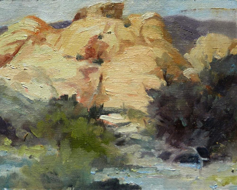 """Calico Basin at Red Rock Canyon, plein air painting by Robin Weiss"" original fine art by Robin Weiss"