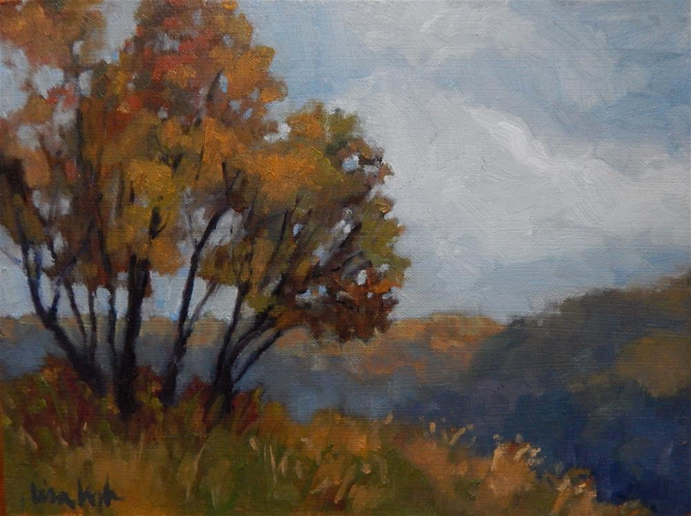 """Mist in Autumn"" original fine art by Lisa Kyle"
