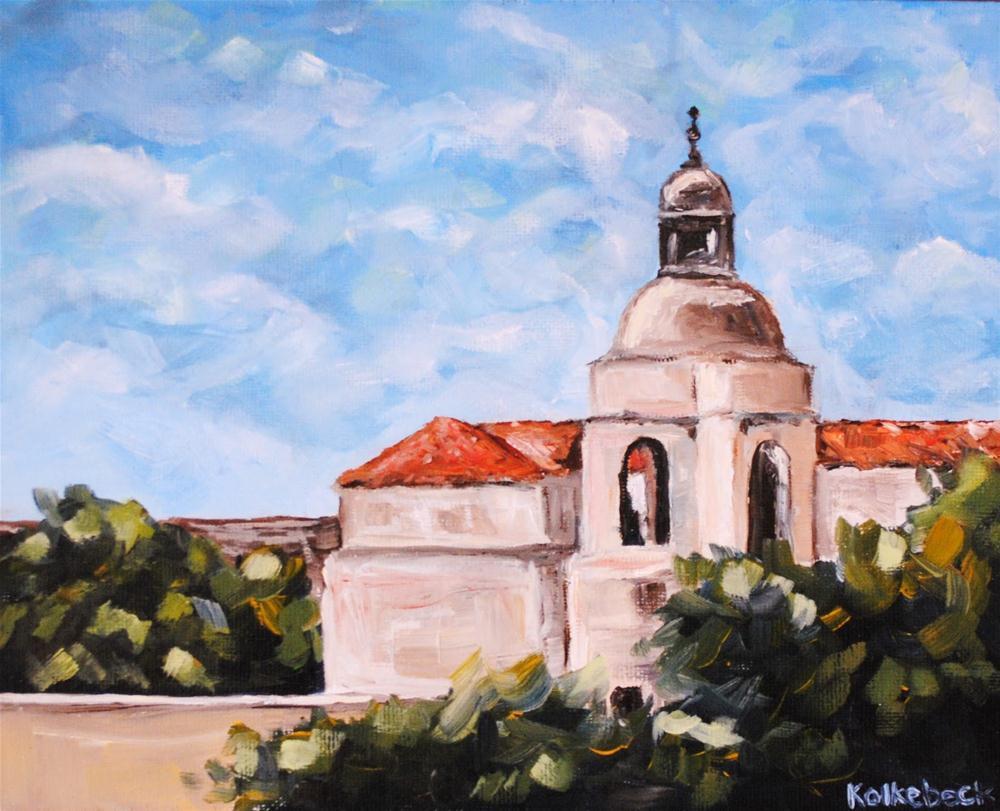 """Pasadena Capitol Building"" original fine art by Alison Kolkebeck"