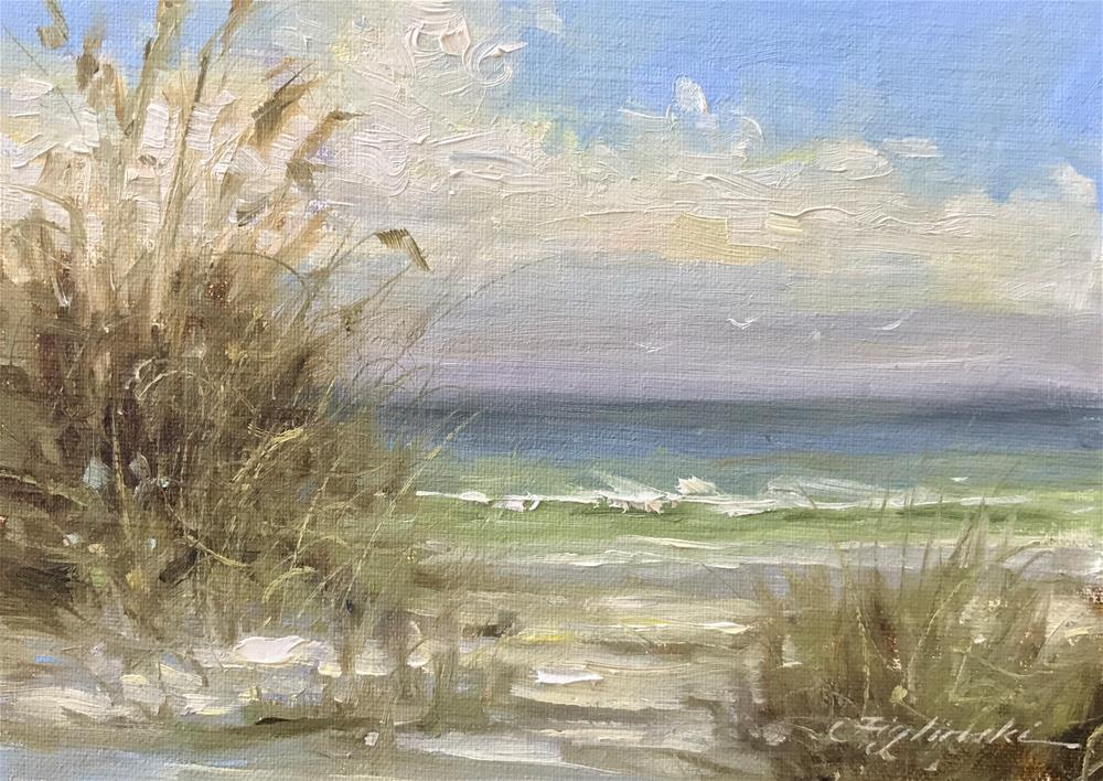 """16006 Beach Study"" original fine art by Martin Figlinski"