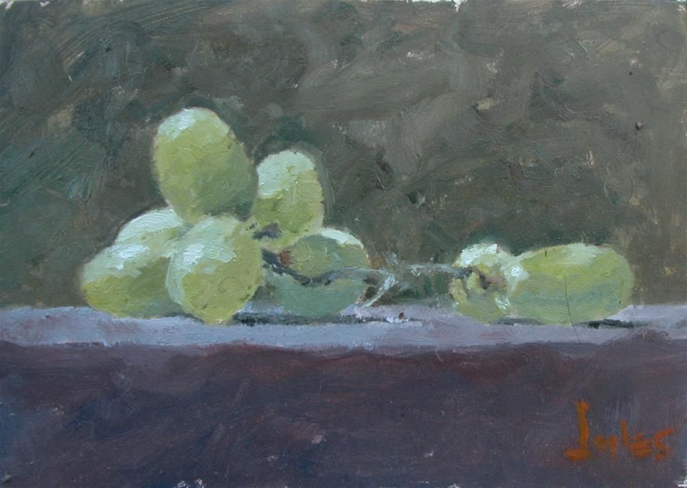 """White Grapes"" original fine art by Richard Jones"