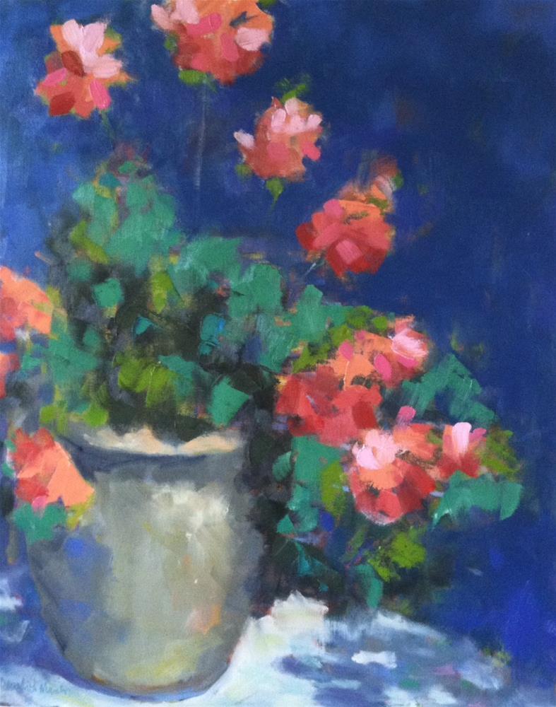 """""""Geraniums"""" original fine art by Katharine March"""