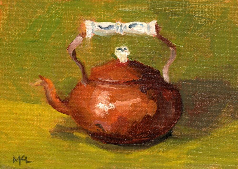 """Copper Kettle"" original fine art by Marlene Lee"