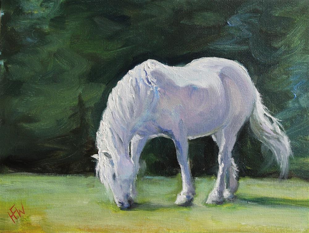 """""""Pink Pony"""" original fine art by H.F. Wallen"""