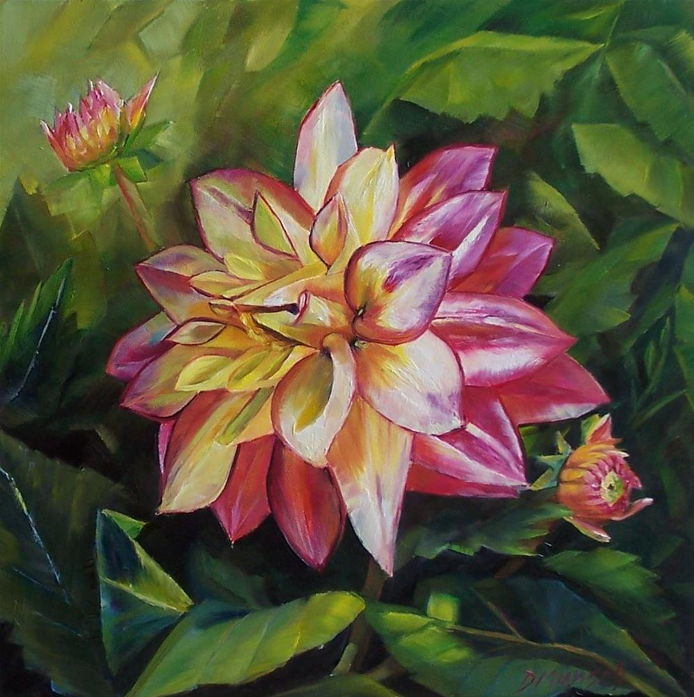 """Merry Dahlia"" original fine art by Donna Munsch"