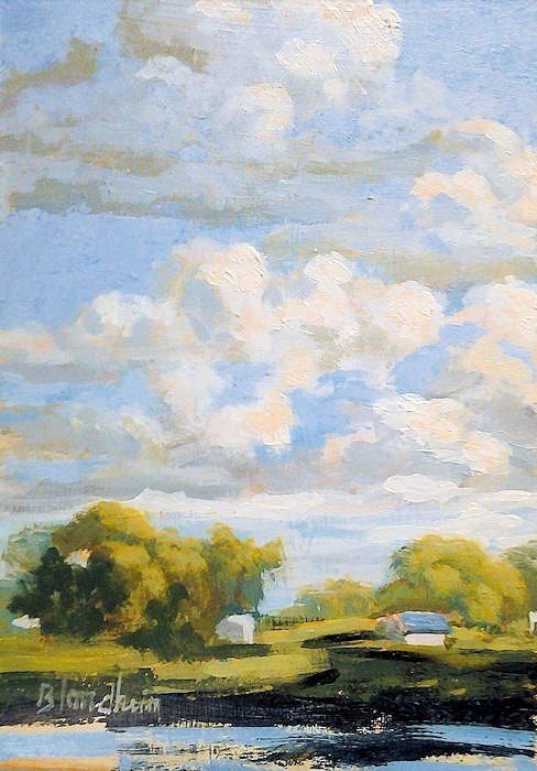 """Winter Park Lake"" original fine art by Linda Blondheim"