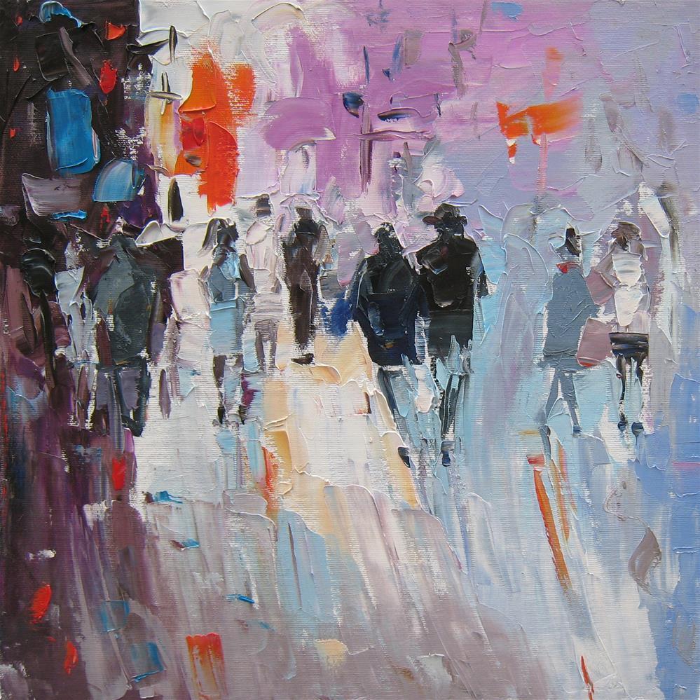 """Perpetual motion"" original fine art by Elena Lunetskaya"