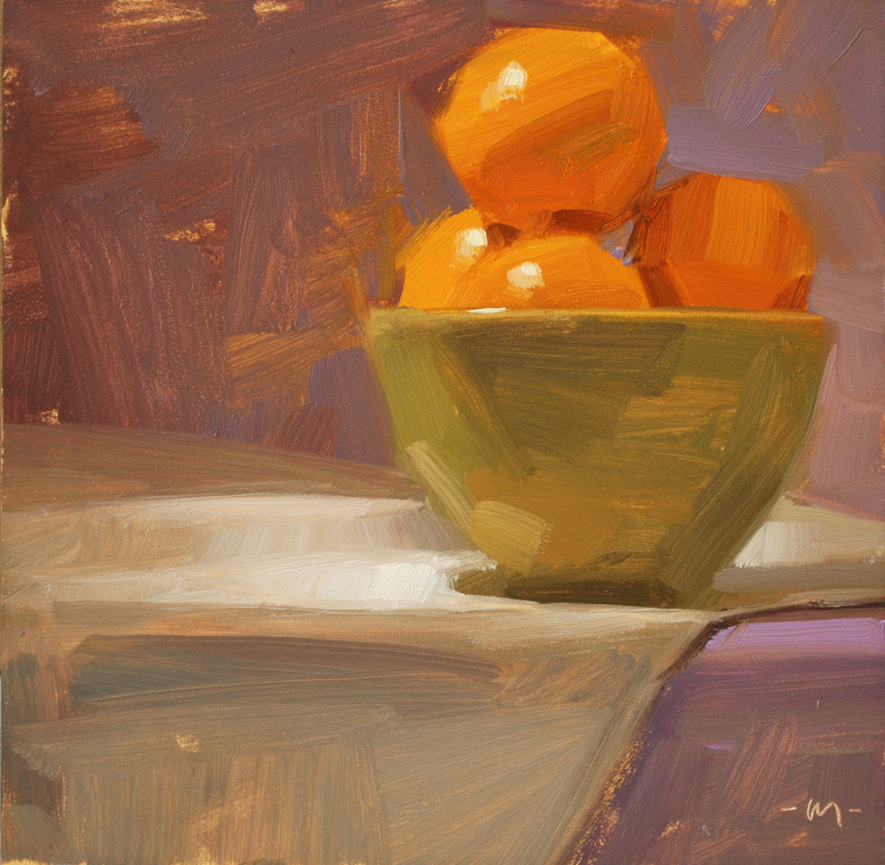 """Bowl of Sunshine"" original fine art by Carol Marine"