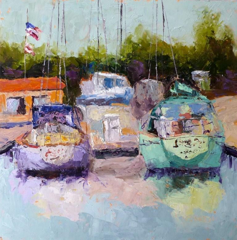 """Ventura Marina 14079"" original fine art by Nancy Standlee"