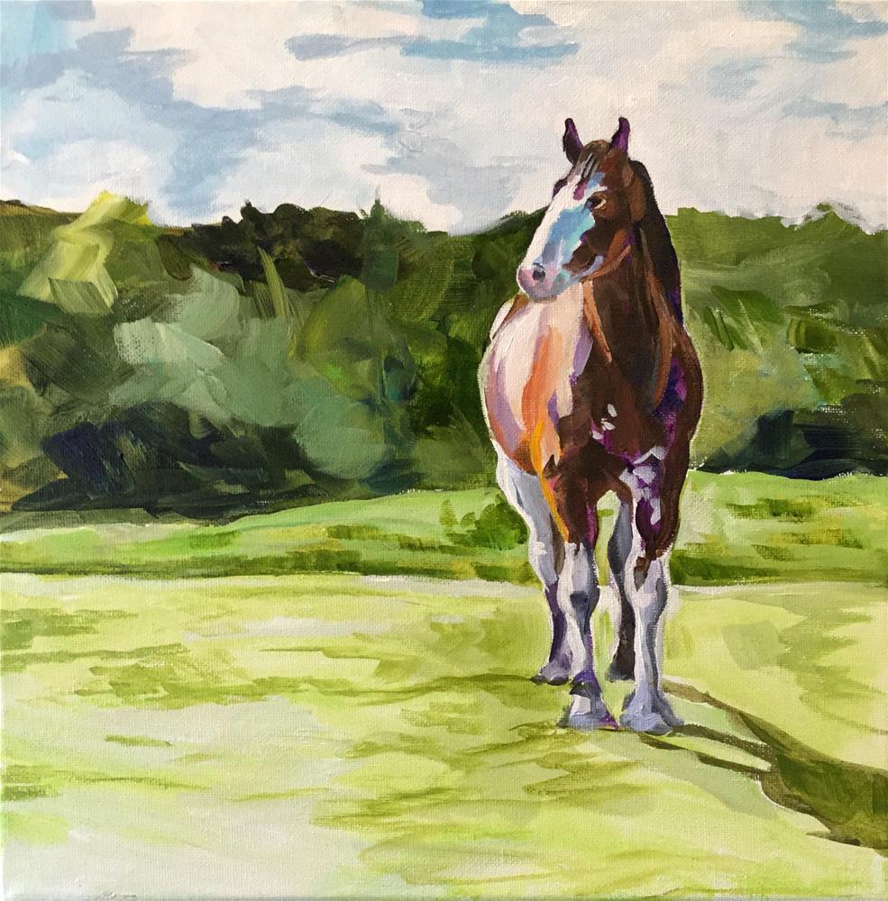 """A Clydesdale Tale"" original fine art by Lauren Kuhn"