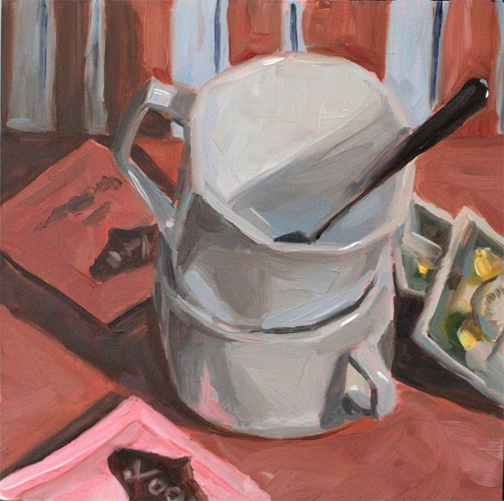 """Tea Cups"" original fine art by Nealy May Riley"
