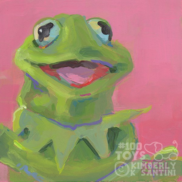 """Kermie, Toy #25"" original fine art by Kimberly Santini"