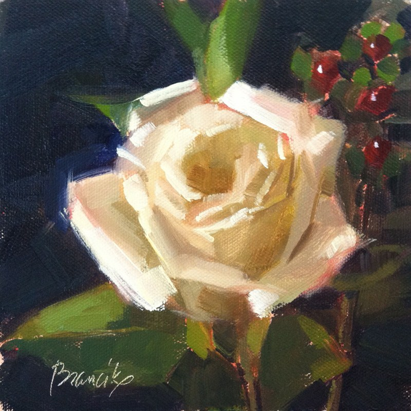 """Rose Study"" original fine art by Candace Brancik"