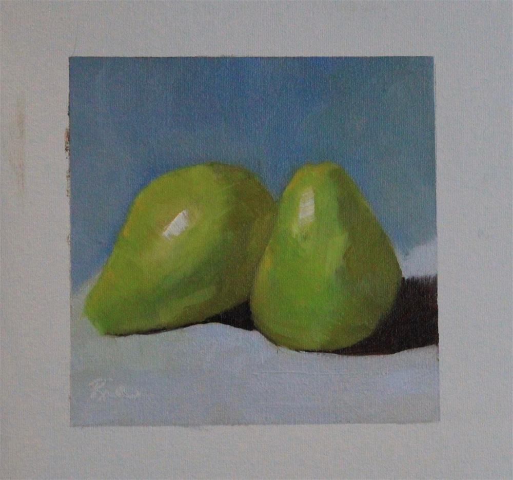 """Two Pear"" original fine art by Maria Reed"