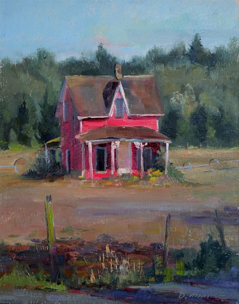 """Western Turf's Old Farmhouse"" original fine art by Denise Maxwell"