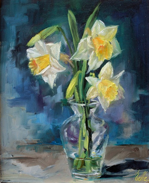 """Bouquet de printemps"" original fine art by Evelyne Heimburger Evhe"