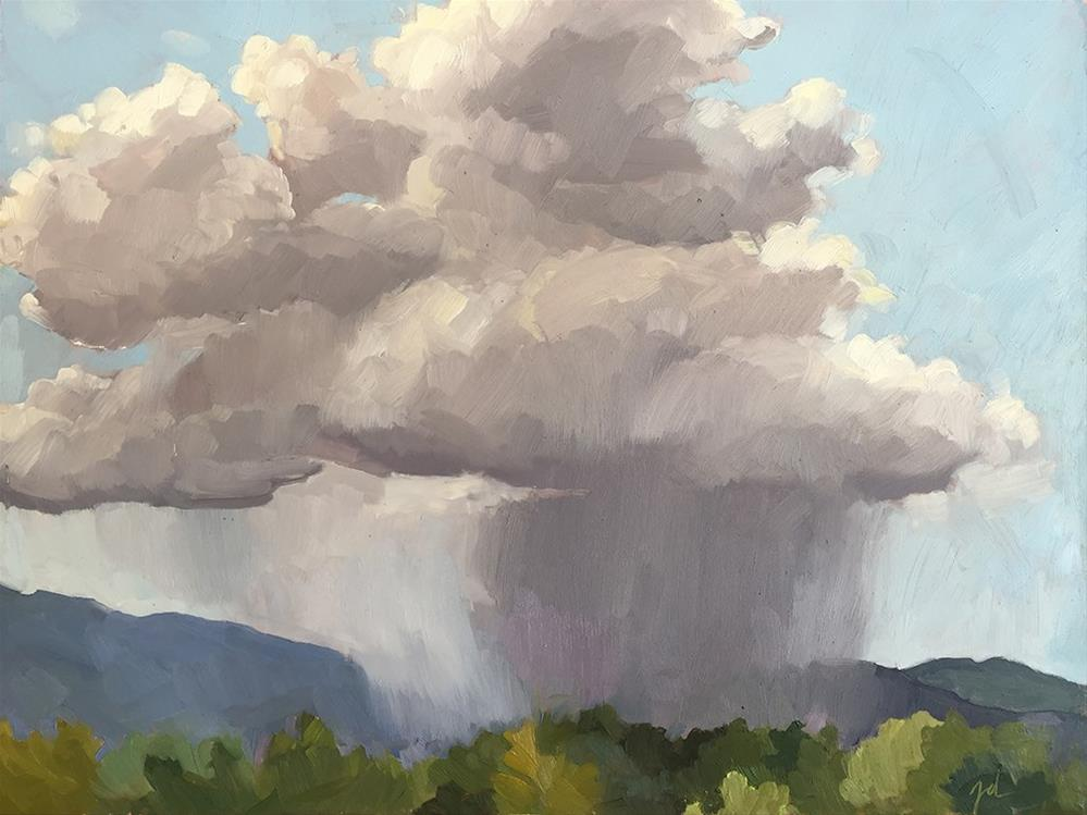 """Rain Cloud"" original fine art by Jessie Dodington"