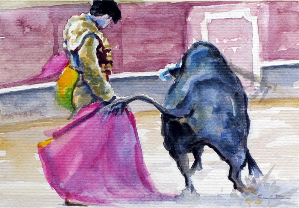 """""""Toreando de verónica"""" original fine art by Eduardo Carpintero"""