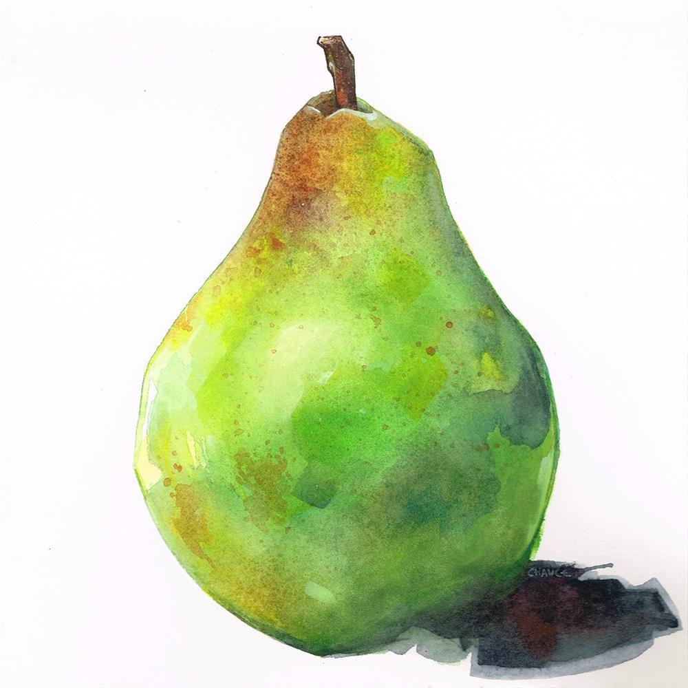 """No. 1 Pear"" original fine art by Annabel Chance"