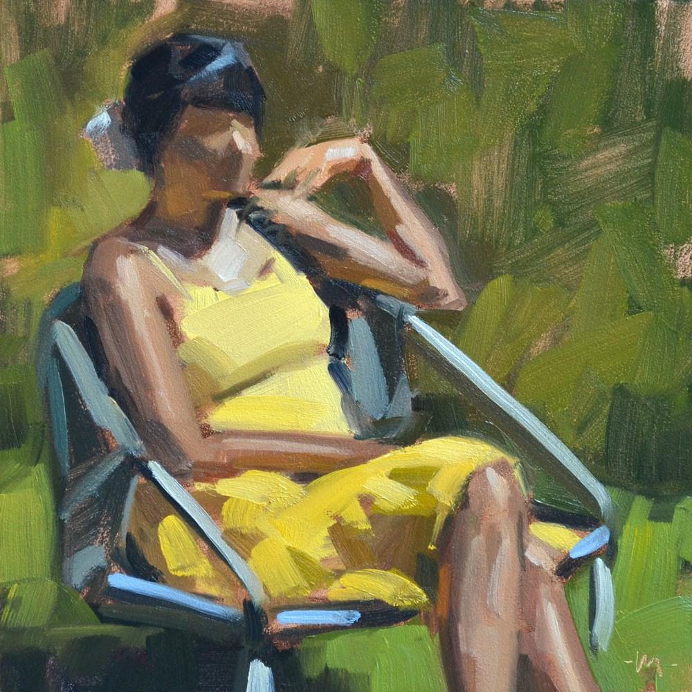 """Yellow Dress"" original fine art by Carol Marine"