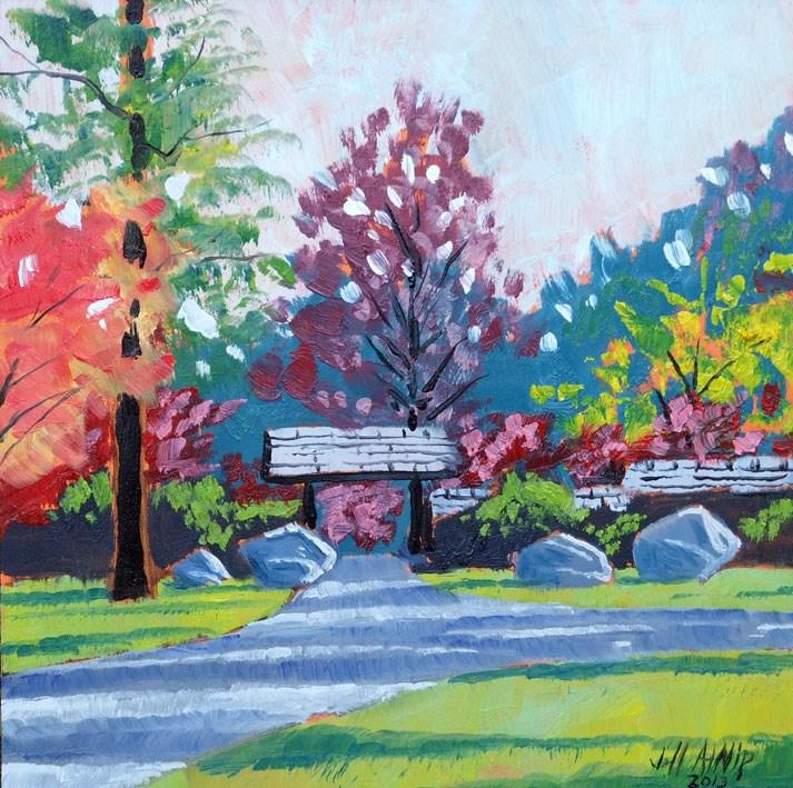 """Japanese Garden"" original fine art by Jeff Atnip"