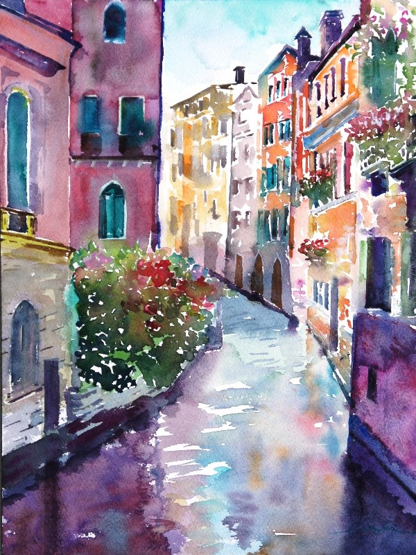 """Venice in Love-4"" original fine art by Lisa Fu"
