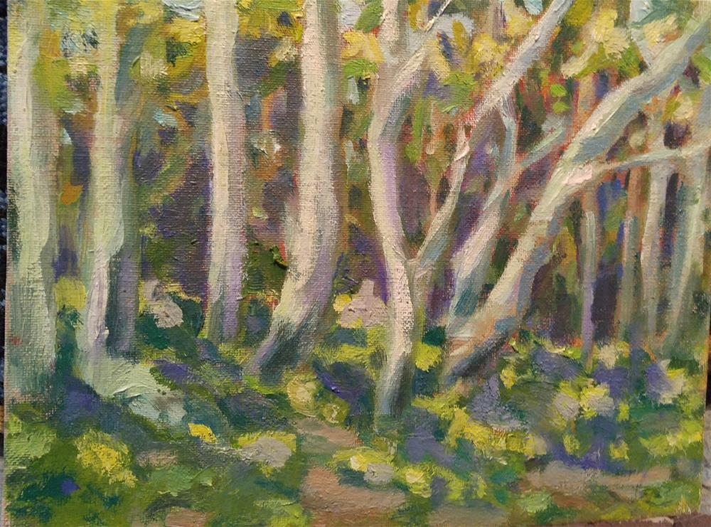 """Dancing trees"" original fine art by angela scully"