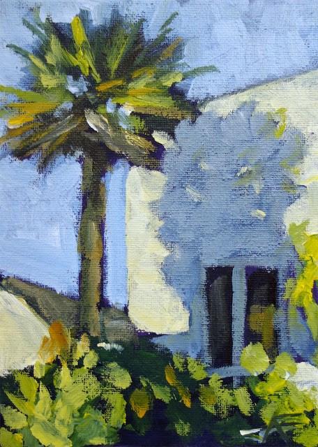 """""""Palm Shadow"""" original fine art by J. Farnsworth"""