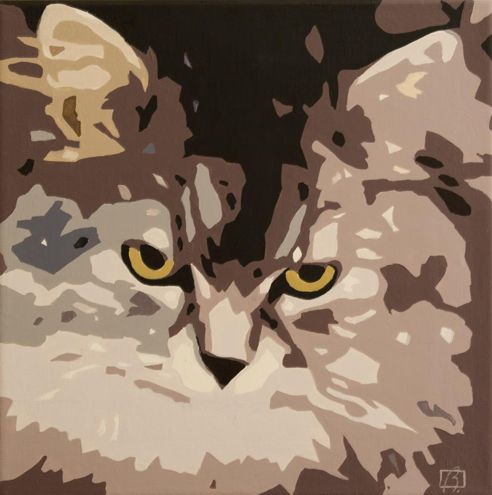 """Custom Cat Stencil"" original fine art by Andre Beaulieu"