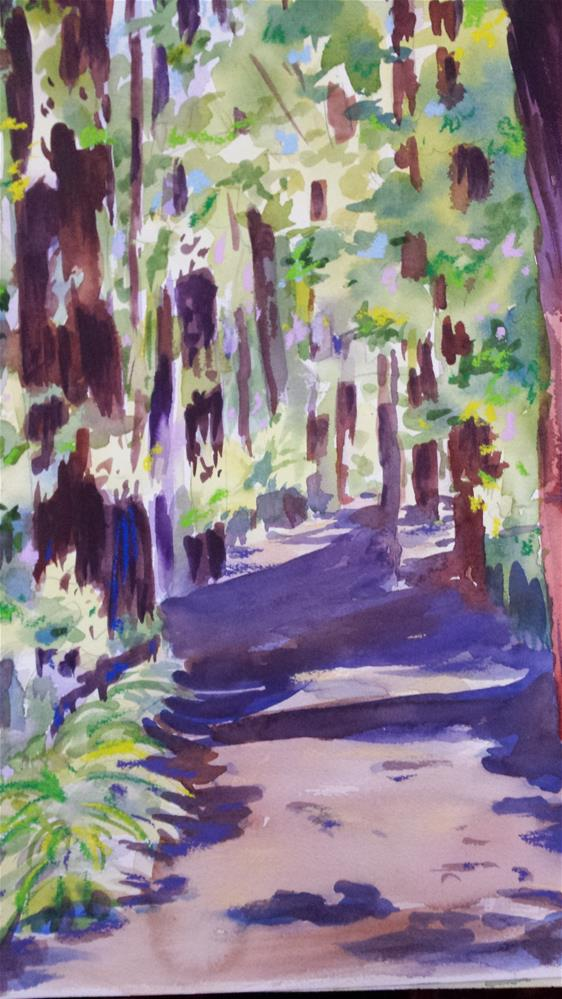 """Walk in the Woods"" original fine art by angela scully"