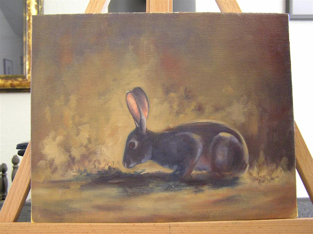 """Waiting in the Brush"" original fine art by Susanne Billings"