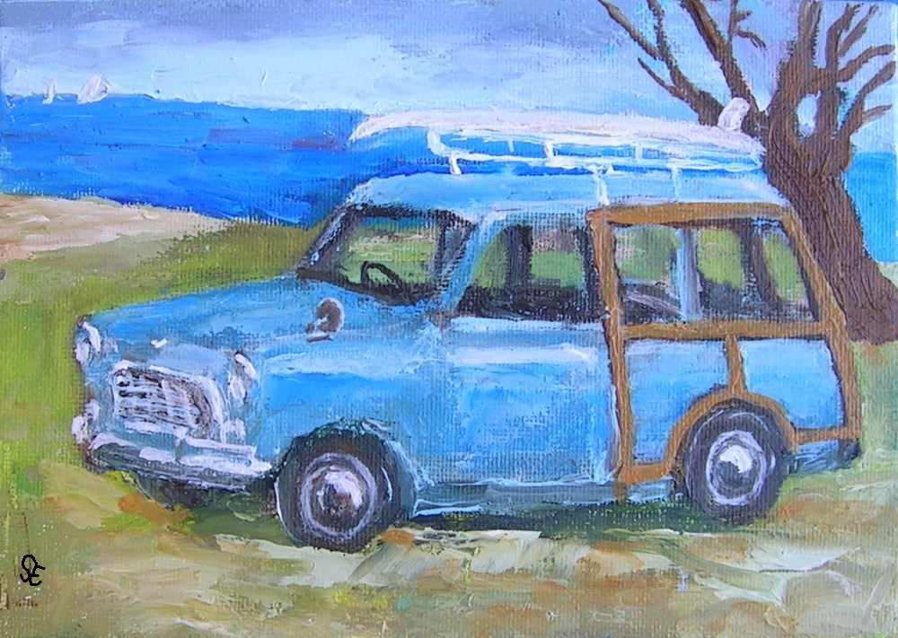 """Compact Woody"" original fine art by Stanley Epperson"