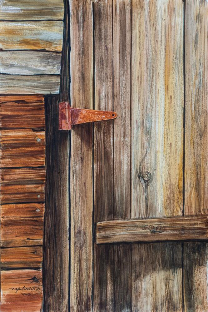 """Wood & Rust"" original fine art by Rafael DeSoto Jr."