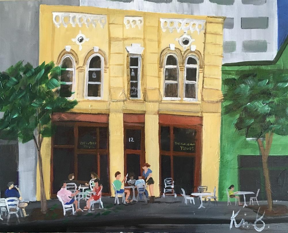 """Raleigh Times"" original fine art by Kimberly Balentine"