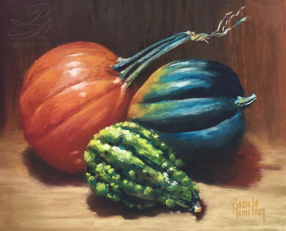 """""""Squash Trio"""" original fine art by Pamela Hamilton"""