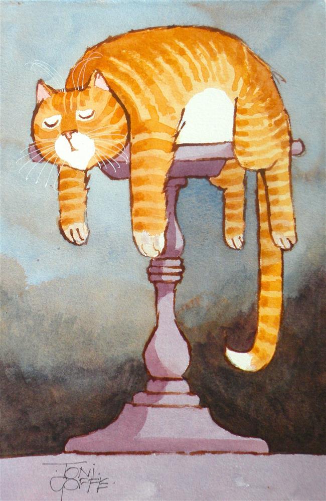 """Table Sieata"" original fine art by Toni Goffe"