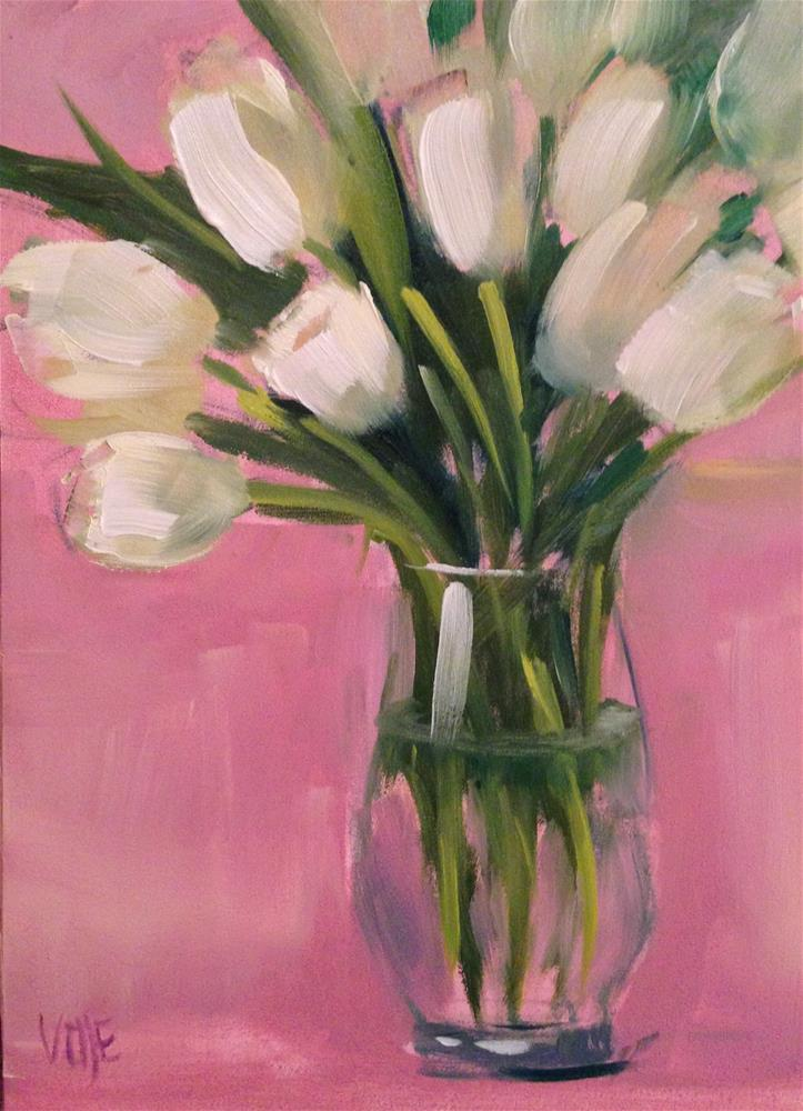 """#73 Mother's Day Tulips"" original fine art by Patty Voje"