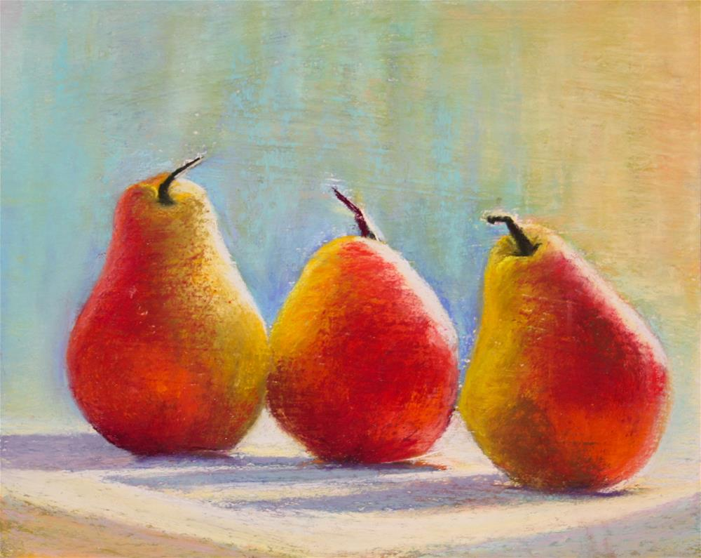"""Luminous Pears"" original fine art by Sharon Lewis"