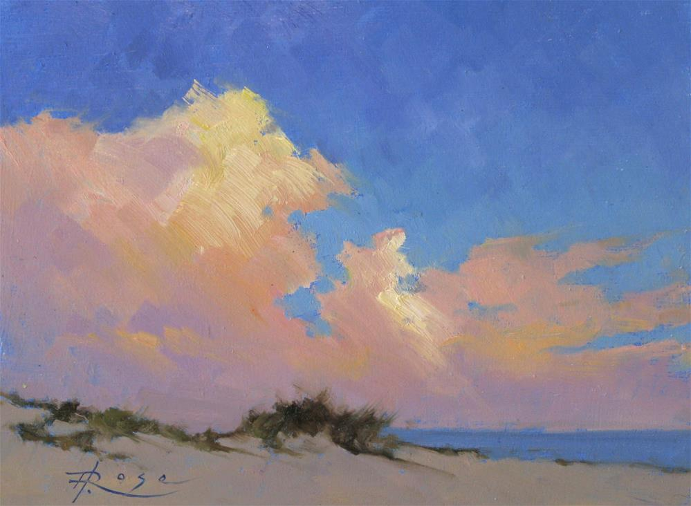 """Sunset Over West End"" original fine art by Howard Rose"