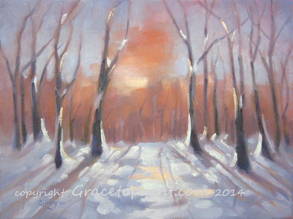 """Winter Embers"" original fine art by Maresa Lilley"