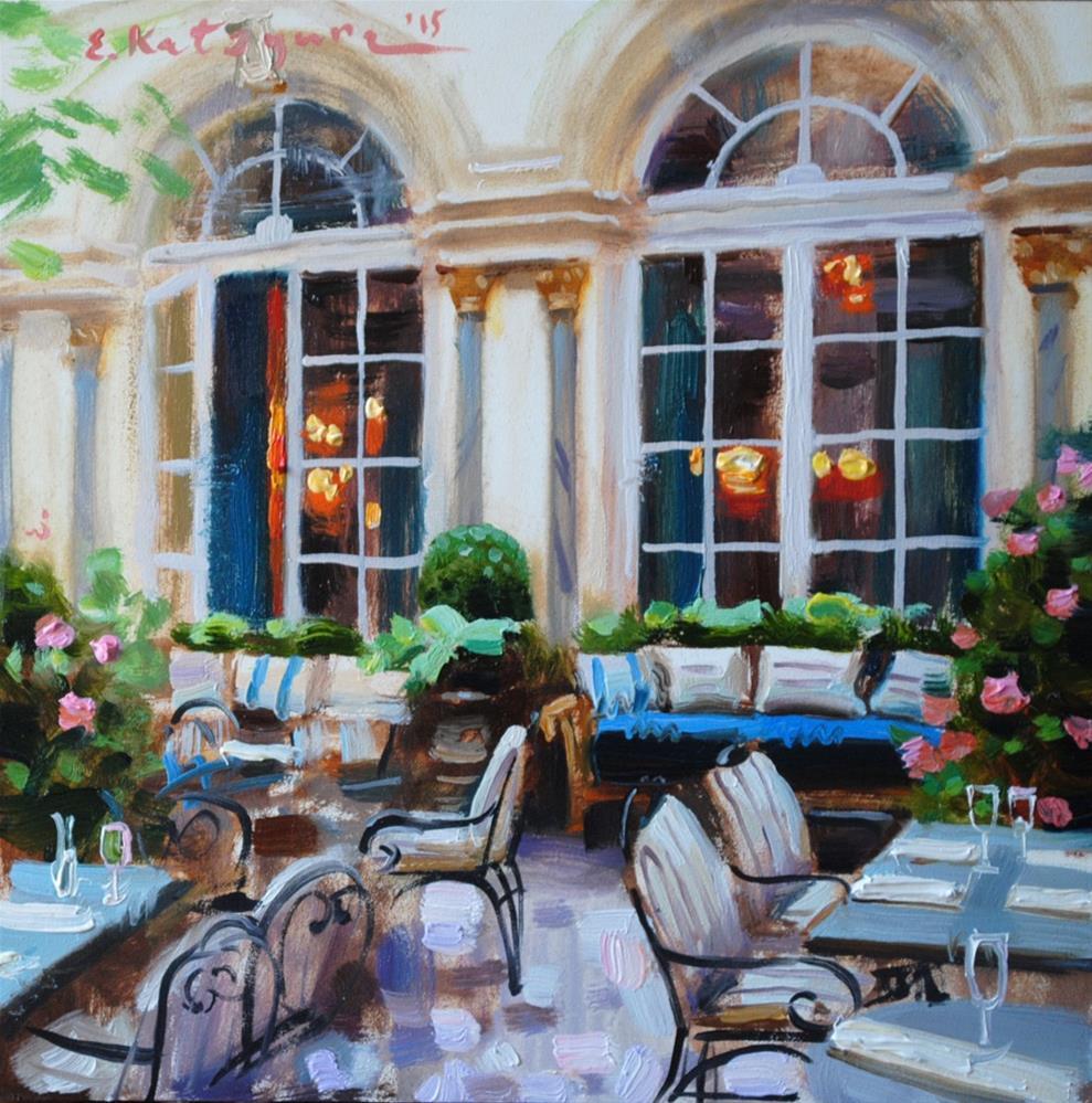 """""""Elegant Dining"""" original fine art by Elena Katsyura"""