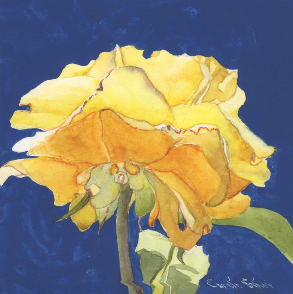 """Another Rose"" original fine art by Carole Baker"